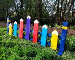 Ограждение для детской площадки, забор Карандаш
