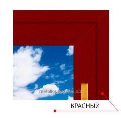 Ламинированное окно Steko Красный