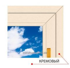 Ламинированное окно Steko Кремовый