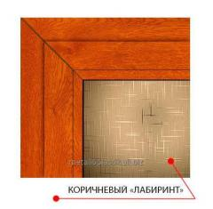 Декоративное стекло Steko Коричневый лабиринт