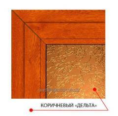 Декоративное стекло Steko Коричневый дельта