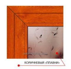 Декоративное стекло Steko Коричневый плавни