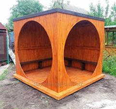 Беседка деревянная со скамейками Уютная
