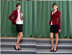 Пиджак для девочки красный