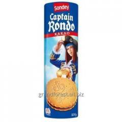 Печенье сэндвич captain rondo с ванильной прослойкой 500 gr