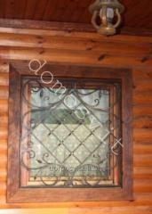 Окна деревянные в срубе, производство окон деревянных