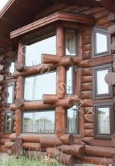 Производство окон деревянных в срубе, Домосвит
