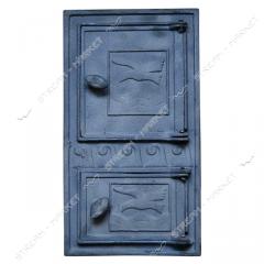 Дверца поддувальная и топочная чугунная...