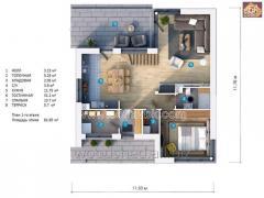 Проект дома из бруса S18 152,10 М2