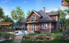 Проект дома из бруса S2 211,79 М2