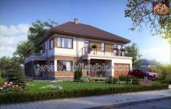 Проект дома из бруса S3 269,76 М2