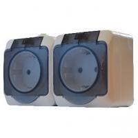 Блок - 2 розетки серии IP44N