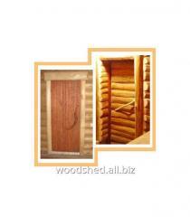Дверь банная тройная стиль лешего
