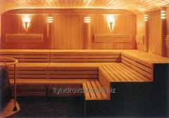 Eurolining for a bath, a sauna