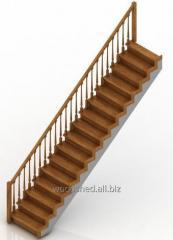 Ladder on a direct wooden framework