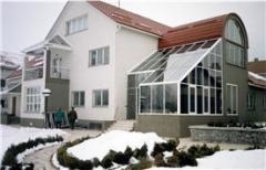Glazing of a winter garden