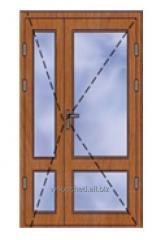 Двери террасные открывание на улицу с двумя...