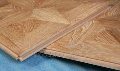 Parquet of mosaic oak panel board 8х320х640 mm of