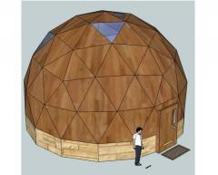 Строительство каркасно-щитовых домов сферической