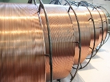 Welding wire and bars of continuous section for