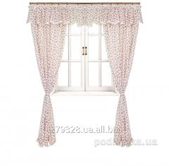 Set of curtains with a lambrequin Provence Red
