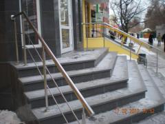 Handrail, hand-rail, barriers, hoods, canopies,