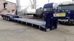 Semitrailer low trawl front-autonomous arrival