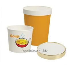Cover cardboard for soup glasses volume 0,5l.