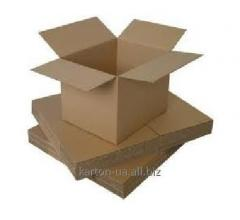 Box from a corrugated cardboard self-assembly