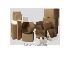 The box is cardboard corrugated