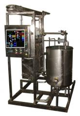 Pasteurization-cooling unit of wine, beer, kvass,