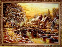 Painting on a canvas, amber painting, painting, a