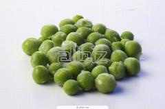 The green peas frozen from the producer. Export is