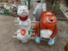 Sculptures garden #2307 / Cats on a shop