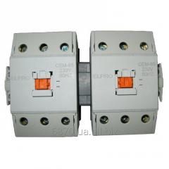 The block of contactors with mechanical and