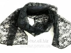 Scarf mourning - guipure black