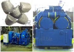 Press roller briquetting ferrochrome
