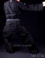 Black WATTLED kimono for single combats (MASTIFFS)