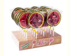 Water-melon lollipop