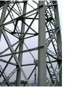 Towers working of prefabricated elements.