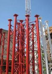 Masts and towers telecommunication. Plant of a