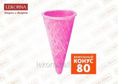 "Wafer ""Cone 80"", raspberry, 400"