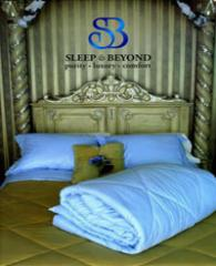 Textiles cosiness. Bed linen for hotels