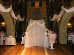 Прокат свадебных арок, свадебное оформление зала,