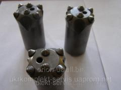 Crowns for drilling of KNSh-40