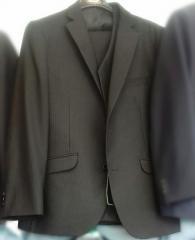 School black classical suit 3 (trousers + jacket +