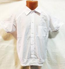 Shirt school river of 8-14 years 1500, white on a