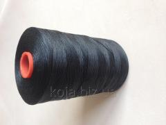 The thread is waxed, black color, thickness - 1