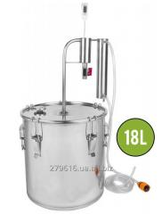 Distiller with a cooler and a settler of 18 l
