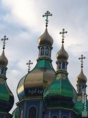 Orthodox domes,  dusting nitride of the titan